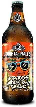 CERVEJA FORTE COM LARANJA - FRUIT BEER (RUBRA) Cervejaria Quinta do Malte 600 ml