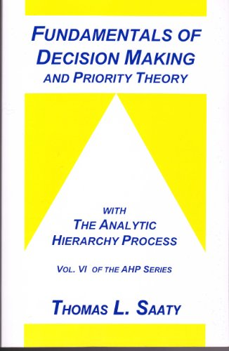 Fundamentals of Decision Making and Priority Theory With the Analytic Hierarchy Process (Analytic Hierarchy Process Seri