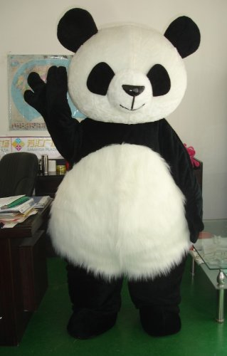 Cute Panda Bear Fancy Party Dress Dance Cosplay Plush Mascot Costume