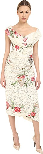 Vivienne Westwood Women's Lotus Flower Lace Cocotte Red Carpet Dress Lace 42 (US 6) Lotus Flower Dress