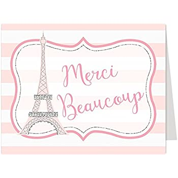 Amazon thank you cards paris eiffel tower french france thank you cards paris eiffel tower french france baby shower stopboris Images