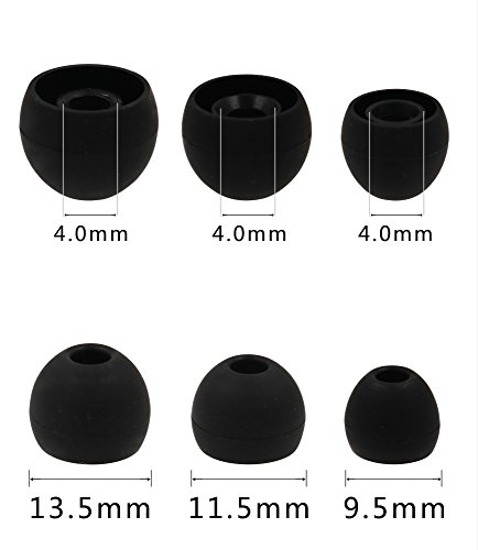 ALXCD Ear Tip for Galaxy S8 Earphone, SML 3 Sizes 6 Pairs Durable Silicone Replacement Ear Tips for Samsung Galaxy S8 Earphone AKG Earphone [6 Pair-4.0]