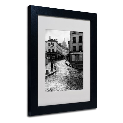 Trademark Fine Art Montmartre Canvas Wall Art by Chris Bliss with Black Frame, 11 by 14-Inch (Bliss Wall Art)