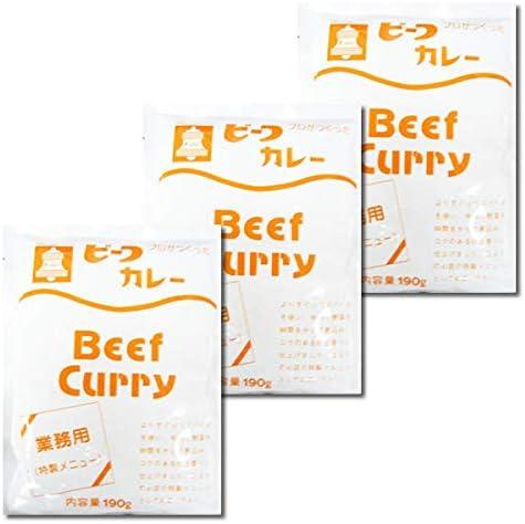 ベル食品 業務用 プロがつくったビーフカレー 190g×3食お試しセット
