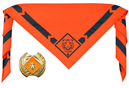 Cub Scout Tiger Neckerchief With Slide - Official BSA Uniform (Scout Tiger)
