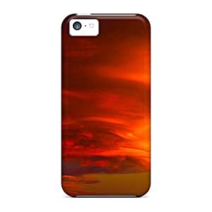 [oWN13202LLrd]premium Phone Cases For Iphone 5c/ Funnel Clouds Cases Covers