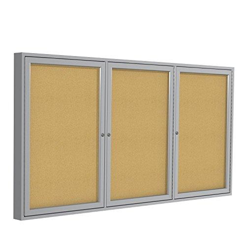 Aluminum Directory Cabinet - Enclosed Bulletin Board Size: 4' H x 8' W
