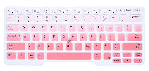 Keyboard Cover Skins Laptop Cover Compatible with 14 Inch Dell Latitude 5480 5490 7490 & Dell Latitude 14 3340 E3340 E5490 E5491 E5450 E5470 E7450 E7470 7480 E7480(Ombre Pink)