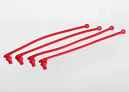 Traxxas 5752 Red Spartan Body Clip Retainers (set of 4)