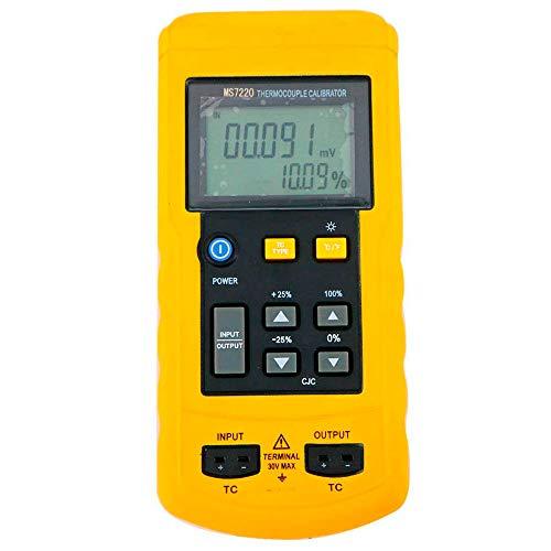 Tongbao MS7220 Digital Thermocouple Temperature Thermometer Process Calibrator with mV Source - Calibrator Temperature