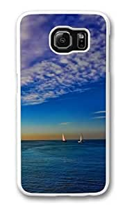 Colorful seascape Custom Samsung Galaxy S6/Samsung S6 Case Cover Polycarbonate White