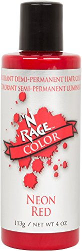 'N Rage Brilliant Demi Permanent Hair Color, Neon Red, 4 Ounce