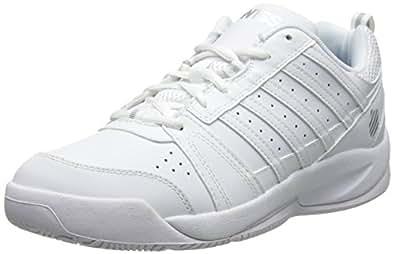 K-Swiss Women's Vendy Tennis Shoe, White/Silver, 5.5 M US