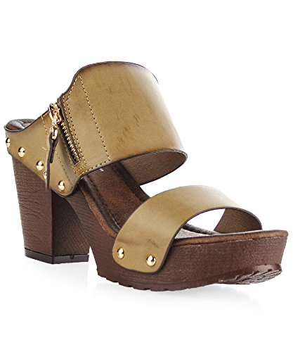 Womens Studded Double Platform Sandals product image