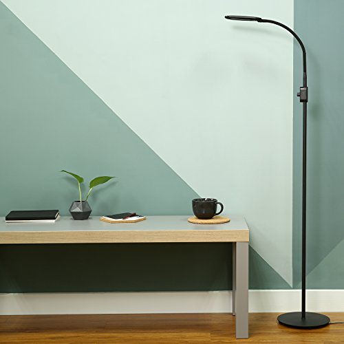 Floor lamp led standing lamp for living room and bedrooms tall aukey floor lamp led standing lamp for living room and bedrooms tall lamp with brightness adjustment knob and flexible neck mozeypictures Gallery