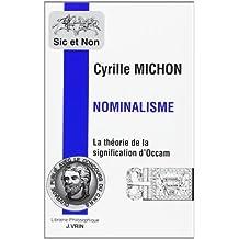 Nominalisme: La Theorie de La Signification de Guillaume D'Occam