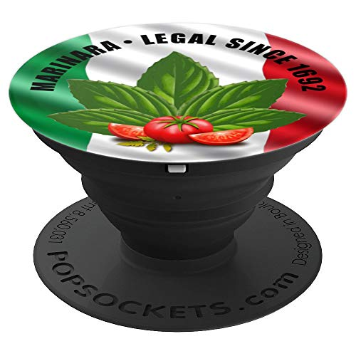 Marinara Legal Since 1692 Basil and Tomatoes - PopSockets Grip and Stand for Phones and Tablets