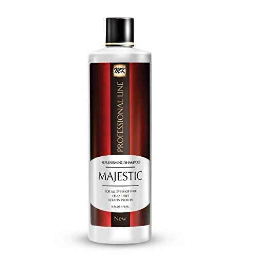 Majestic Keratin Replenishing Shampoo 16oz(475ml)-after Care- Soduim Chloride & Sulfate Free