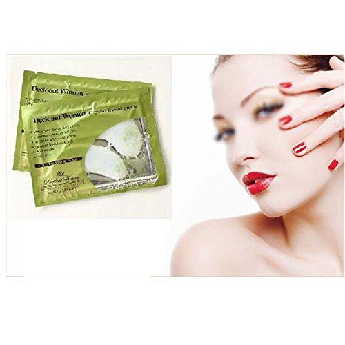5 × Damen Anti-Falten Kollagen Intensive Feuchtigkeit Kristall Augen-Schablone Augenlid Aufnäher Auflage GGG