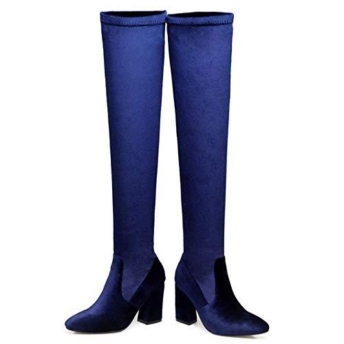 Femmes Cavalieres Bleu Bottes Taoffen Cavalieres Bottes Taoffen Femmes YO7naaF