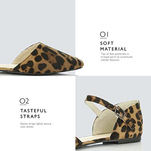 Dailyshoes Kvinnor Mode Skor Leopard Mocka