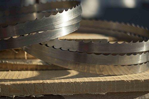 Wood-Mizer 167'' DoubleHard Sawmill Blades 10° x 0. 045'' x 1. 25'' -Box of 15 by Wood-Mizer