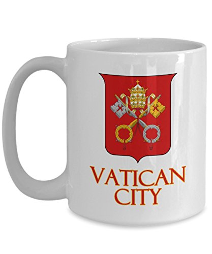 Vatican City, Coat of Arms - Ceramic Coffee Mug