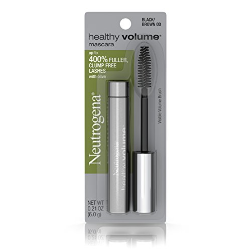 Neutrogena Healthy Volume Mascara, Black/Brown 03,.21 Oz. (Pack of 2)