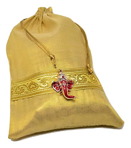 Desi Favors Set of 4 Potli Bags for Puja Return Gifts or Diwali or Weddings (Best Return Gifts For Wedding)