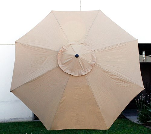 "9ft Umbrella Replacement Canopy 8 Ribs in (Canopy Only) (Beige) - Brand new patio market umbrella canopy replacement For 9ft 8 ribs umbrella ribs length: 54"" with enchance rib tip cover - shades-parasols, patio-furniture, patio - 41a7IzVI46L -"