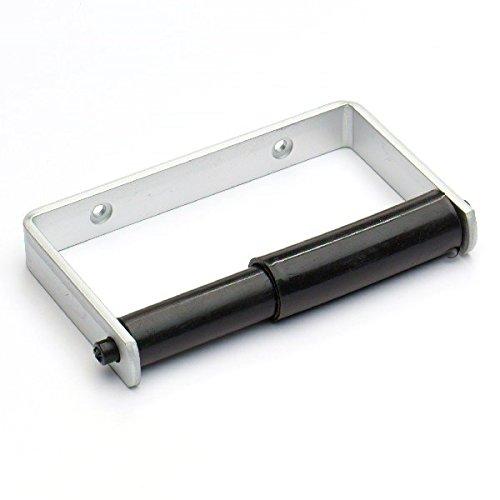 Bulk Hardware BH02038 Toilettenbeschlag Rollenhalter mit schwarzer Rolle Wei/ß