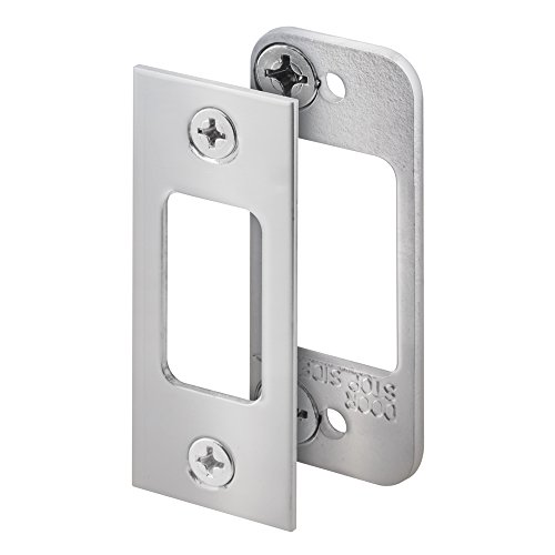 Stainless Strike Plate - Slide-Co 152702 High Security Deadbolt Strike, Stainless Steel, 2-Piece
