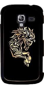 Funda para Samsung Galaxy Ace 2 (GT-I8160) - Caballo De Oro Negro Tribal by Nina Baydur