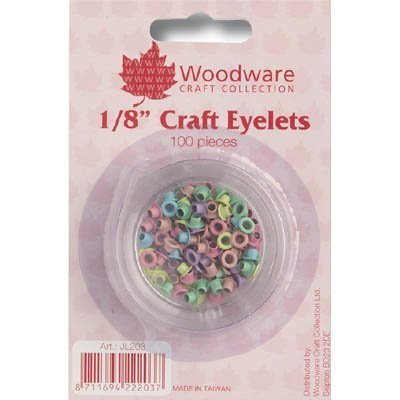 Round Eyelets Pastel - WOODWARE » ROUND 1/8 INCH EYELETS - Pastel - 100 Pieces by Woodware