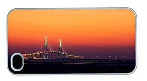 Hipster design iPhone 4S covers incheon bridge sout korea PC White for Apple iPhone 4/4S