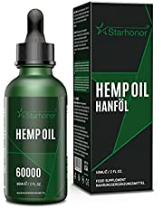 Starhonor® Premium oliedruppels met certificaat bevat onverzadigde omega-vetzuren 100% veganistisch (60 ml-6000 mg)