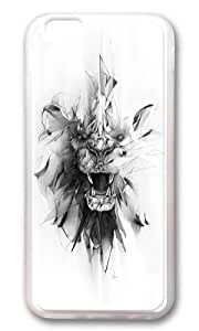 Apple Iphone 6 Case,WENJORS Adorable STONE LION Soft Case Protective Shell Cell Phone Cover For Apple Iphone 6 (4.7 Inch) - TPU Transparent hjbrhga1544