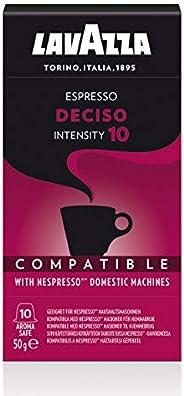 Cápsula Espresso Deciso Lavazza, Compatível com Nespresso, Contém 10 Cápsulas