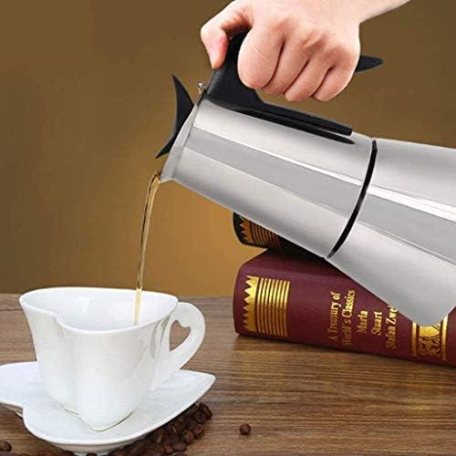 6cups / 300ml koffiezetapparaat Aluminium Materiaal Coffee Pots Mocha Coffe Machine Filter van de koffie Espresso Maker Anti-Kokend Handle Design met BaseIT FACAI