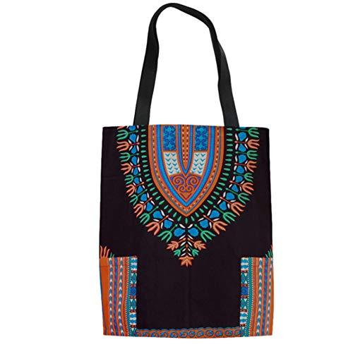 LANDONA Les Modèles Traditionnels Des Femmes Africaines Mode Sacs Fourre-Tout Linen Voyage Portable Réutilisable Sac Pliable B