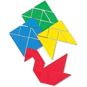 ETA hand2mind Small Plastic Tangrams (Set of 28)