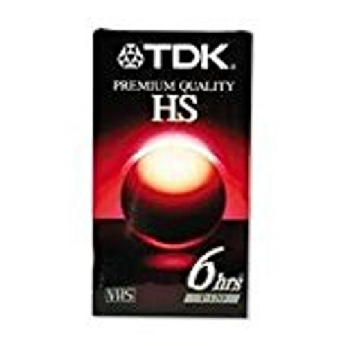 TDK T120HS High Standard VHS Video Tape (Discontinued by Manufacturer) 3PK 6 HRS
