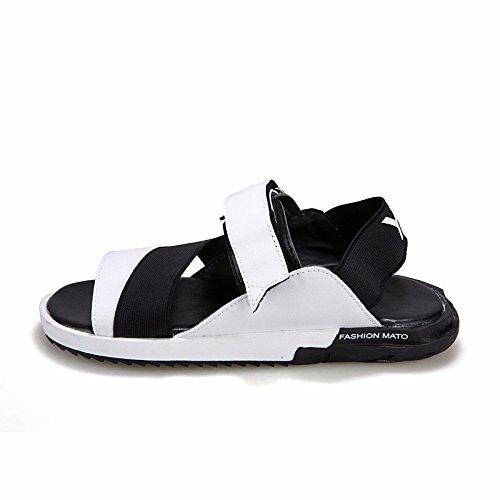 Il nuovo primavera Uomini sandali sandali tendenza scarpa tendenza Tempo libero Uomini scarpa ,bianca,US=10,UK=9.5,EU=44,CN=46