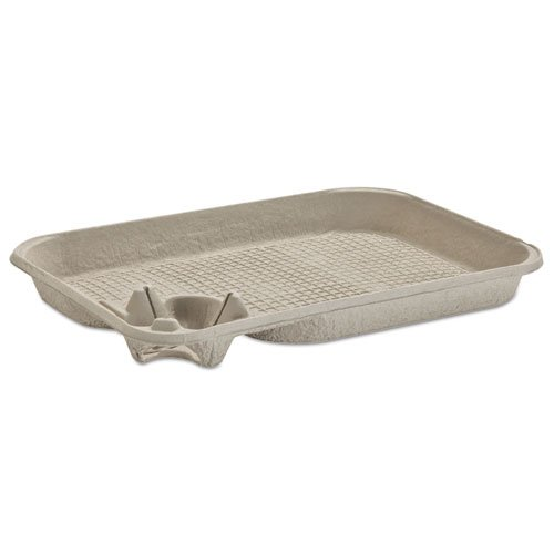 Chinet StrongHolder Molded Fiber Cup/Food Tray, 8-22oz, One Cup - Includes 200 trays per case.