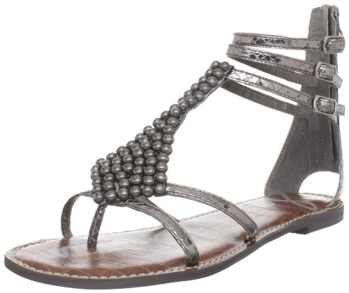 Sam Edelman Women's Ginger Sandal,Pewter Boa,8.5 M US by Sam Edelman