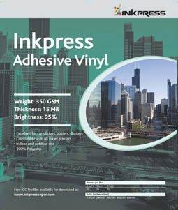 Inkpress Self Adhesive Backed Inkjet Vinyl Paper 13''x19'' 20 Sheets