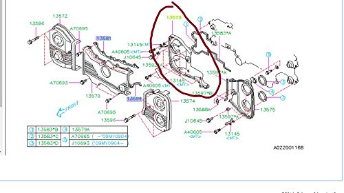 Subaru RH AT PASSENGER Rear Inner Timing Cover Forester XT Legacy GT Outback Xt Turbo