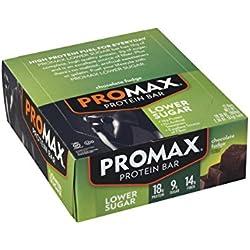 Promax Low Sugar Bar Chocolate Fudge (Pack of 12)