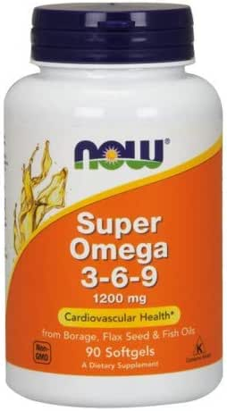 Super Omega 3-6-9 1200mg 180 Softgels (Pack of 2)