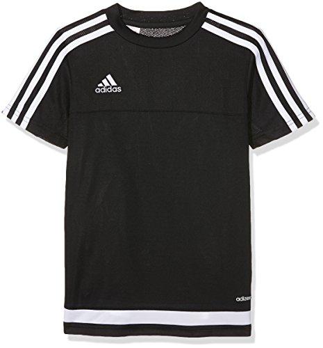 adidas Kinder Trikot/Teamtrikot Tiro15 training js y, schwarz/Weiß, 140, S22313